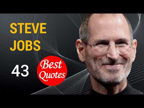 "🔴 The 43 Best Quotes by Steve Jobs ✅""We're here to put a dent in the universe."""