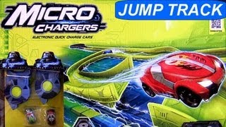 Micro Chargers Jump Track Race ULTIMATE Review by Moose Cars Toys Racing Challenge car-toys