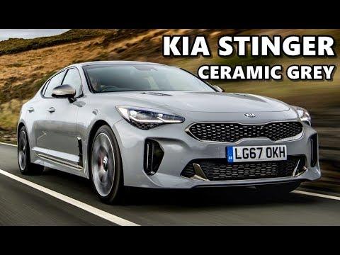 2018 Kia Stinger Ceramic Grey Youtube