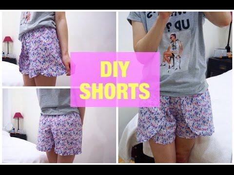 Сшить летние шорты юбка