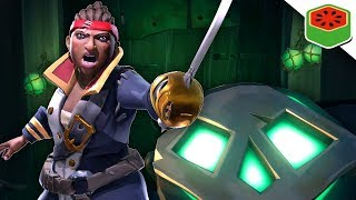 BATTLING THE RAID WHEN A PLAYER APPEARS... | Sea of Thieves