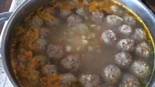 Готовим обед Суп с фрикадельками и Овощное рагу / Ну и варёные мыши)))