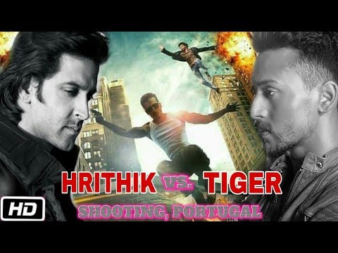 Hrithik vs Tiger Movie Shooting   Car and Bike Chasing in Lisbon, Portugal