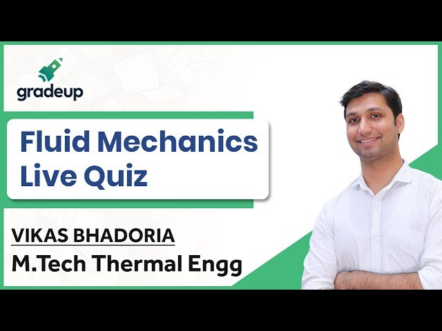 GATE ME 2019 | Fluid Mechanics Live Quiz