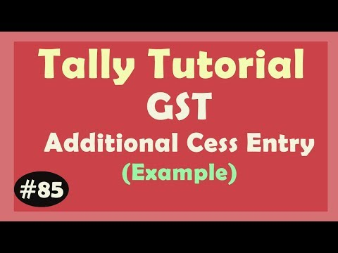 Additional CESS - GST | how to apply additional GST CESS in Invoice Tally ERP9