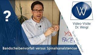Rückenschmerzen wegen Bandscheibenvorfall oder Spinalkanalstenose? Spinalstenose versus Prolaps
