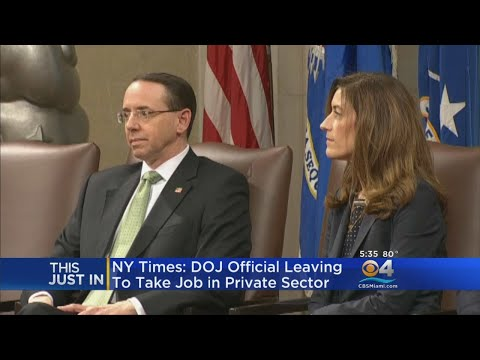 NYT: Rachel Brand, 3rd Ranking Official At Justice Dept., Resigns