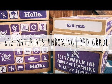 K12 Online School Materials Unboxing | 3rd Grade