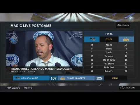 Frank Vogel -- Orlando Magic at Denver Nuggets 11/11/2017