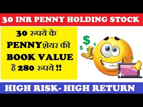 30 रुपये के PENNY शेयर की BOOK VALUE है 280 रुपये || Ganges Securities