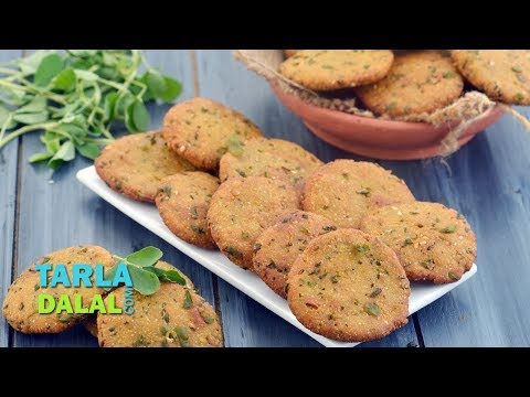 Tarla Dalal Favourite Recipe - Methi Makai Dhebra, Tea Time Snack by Tarla Dalal
