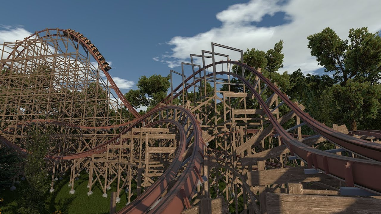 GhostRider's Revenge - NoLimits 2 (RMC Wooden Coaster) - YouTube
