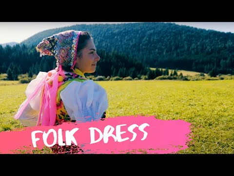 Beautiful girl wears the traditional dress of Slovakia (字幕/SK sub)