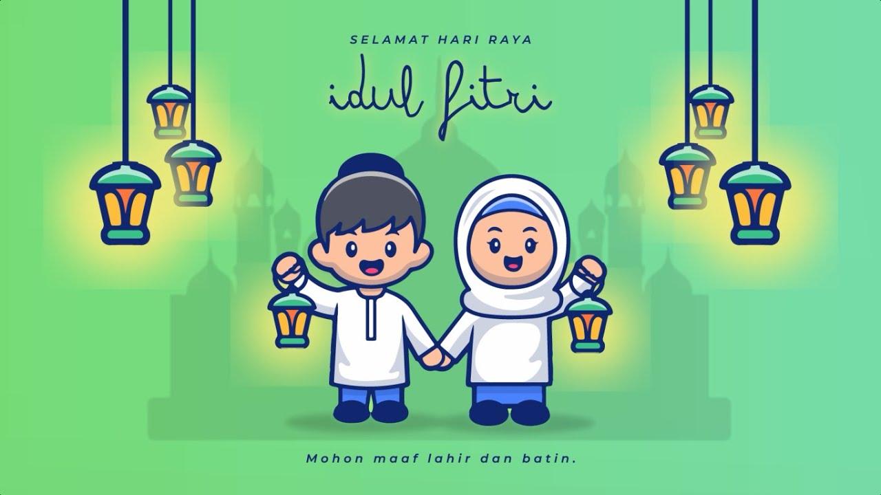 Animasi Ucapan Selamat Hari Raya Idul Fitri 1441 H - YouTube