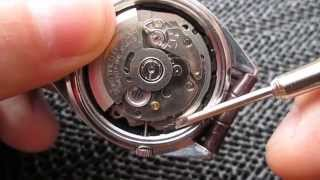 How to remove Stem/Crown from Seiko 7s26 Movement