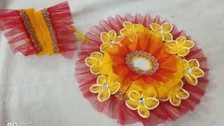 Laddu Gopal Yellow Red Net Heavy Poshak Making Idea   #CraftLas