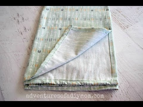 How To Make Baby Receiving Blankets | How To Sew DIY Baby Blankets Tutorial