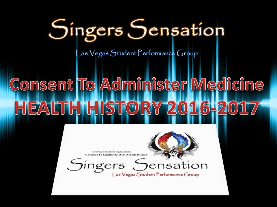 ssg music consent to medical health history form for singers