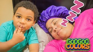 GOO GOO MOM PRETEND PLAY MORNING ROUTINE!