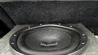 12 inch Sony Xplod XS-GTR121L and JL Audio PowerWedge Subwoofers Flexing