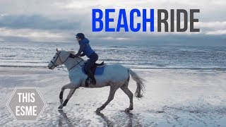 BEACH RIDE! | Caspers first time at the beach | This Esme