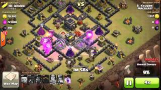 Clash of Clans | Xtreme Mac Blast Attack Th9 vs Th9 | 3 Stars! LavaLoon Attack! Sweeper Included!