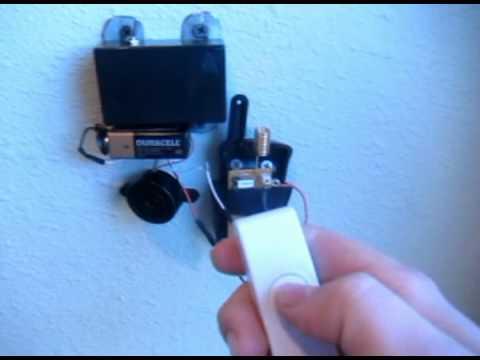 remote activated laser security system youtube. Black Bedroom Furniture Sets. Home Design Ideas
