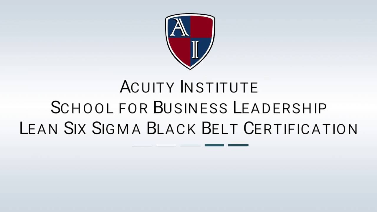 Lean Six Sigma Black Belt Certification Youtube