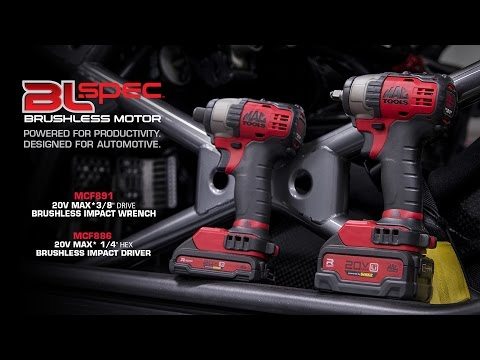 MCF891 and MCF886 Compact Brushless Impacts | Mac Tools
