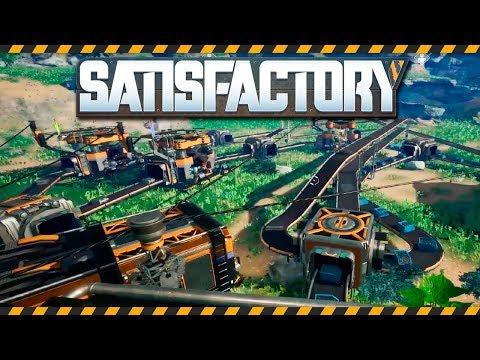 Satisfactory - геймплей. Конвейеры и базовое производство.