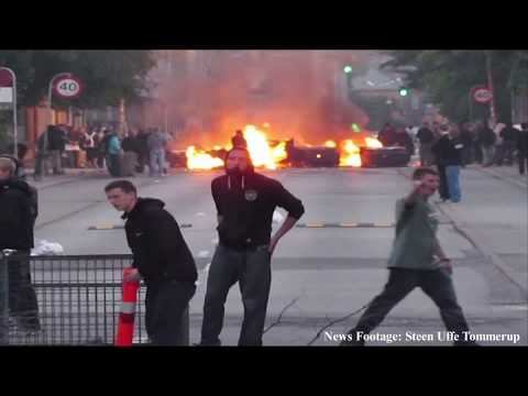 Drugs Raid & Riot With Police In Christiania Pusher Street Copenhagen