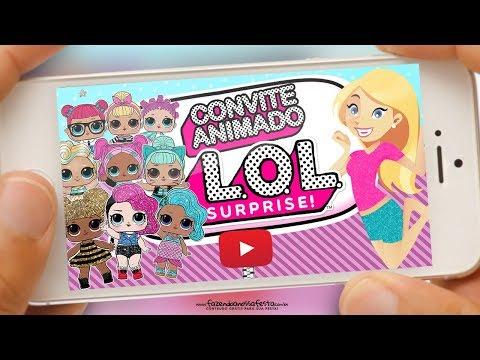 Convite Animado Virtual Lol Surprise Grátis Para Baixar