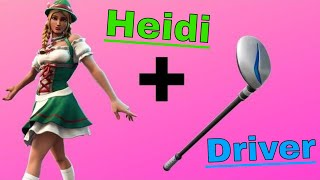 Season 10! *HEIDI* *DRIVER PICKAXE* *GAMEPLAY*Fortnite Victory Royale! 7 kills! Oktoberfest Skin