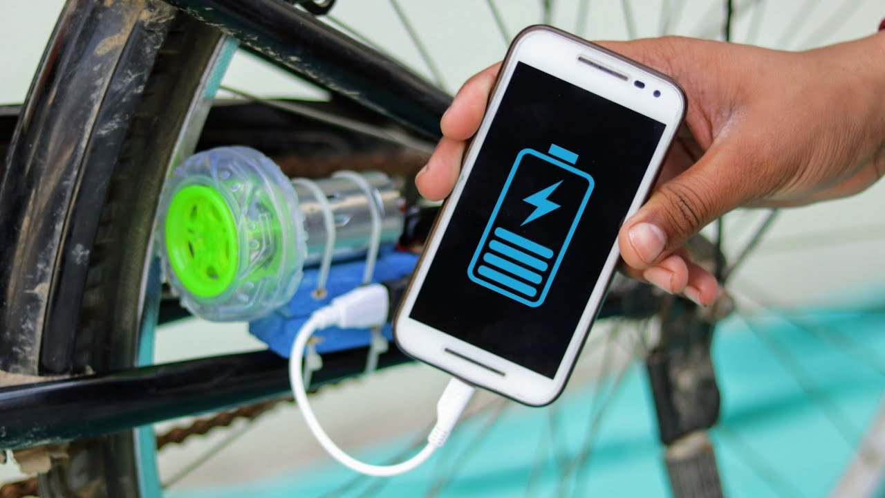 How To Charge Your Mobile With Bicycle Free Energy