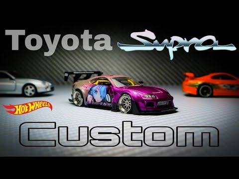 Toyota Supra Mk4 Pandem Itasha Hot Wheels Custom