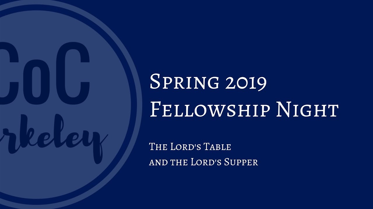 2019-03-13 Fellowship Night