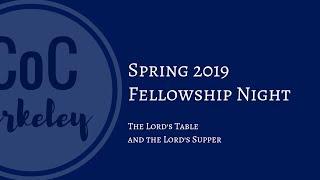 2019-03-13 Fellowship Night