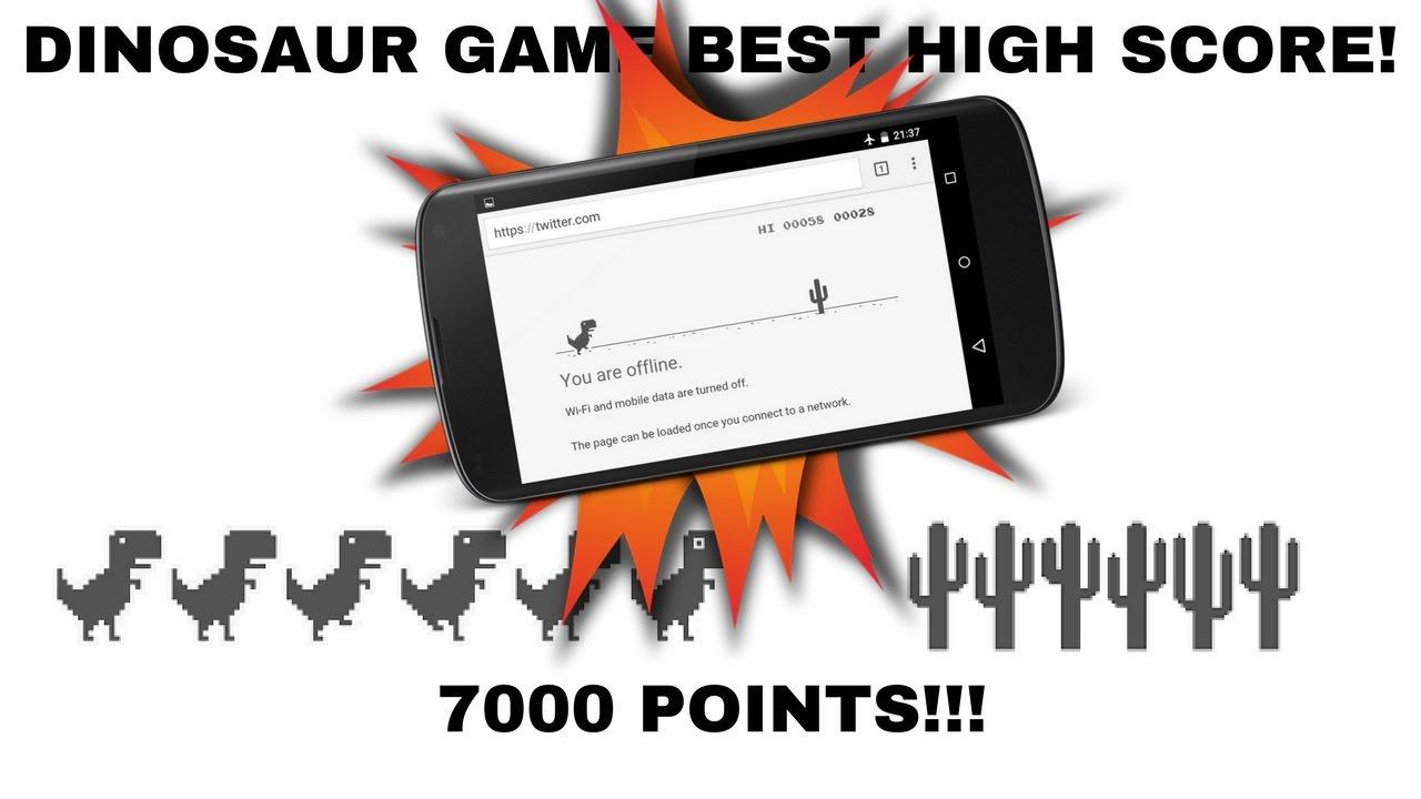 Chrome Dinosaur Game HIGH SCORE!! 7k!! - YouTube