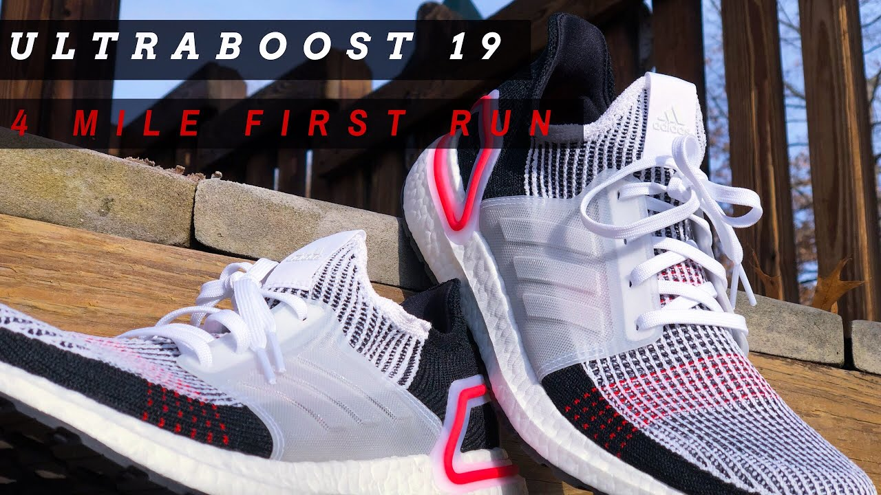 596a38760a81a Adidas UltraBOOST 19 First Run - YouTube