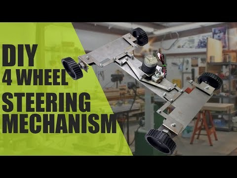How to Make Four Wheel Steering Mechanism Mechanical Project