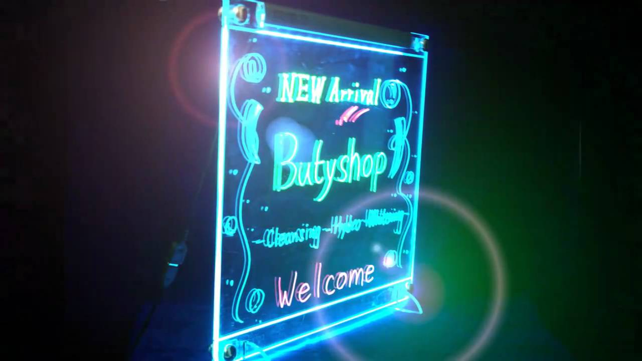 Led Writing Board Led Light Slate Video 招財貓led One Led
