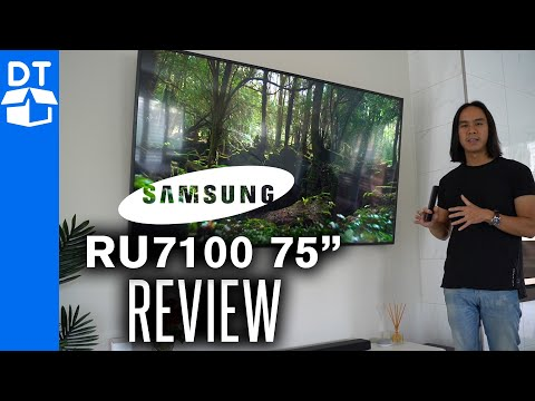 "Samsung RU7100 Series 7 75"" 4K UHD TV Review & Unboxing"