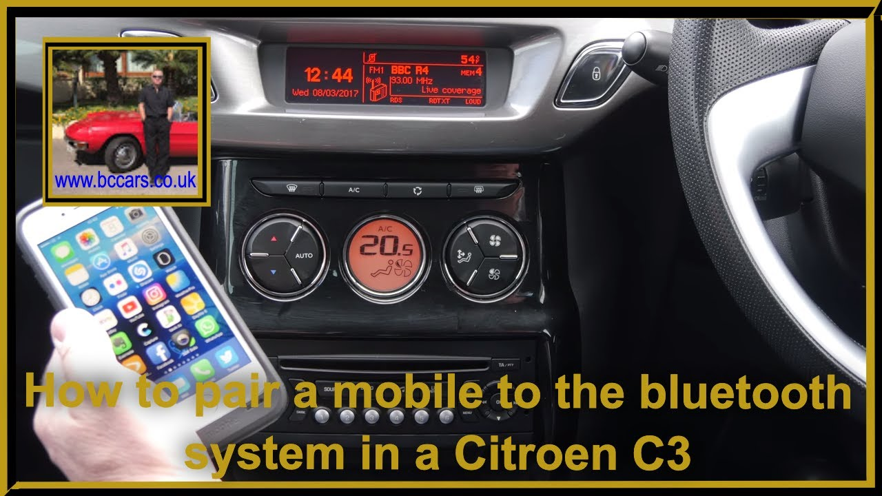 How To Pair A Mobile The Bluetooth System In Citroen C3 1 6 Hdi 16v Exclusive Hatchback 5d Full