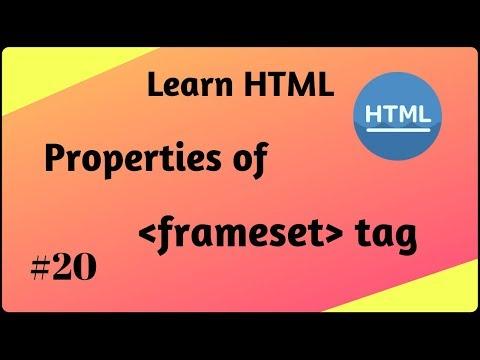 Properties Of Frameset Tag | Properties Or Attributes Of HTML Frames | Shiva Web Tutorial