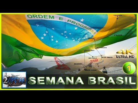SALVADOR - BRASILIA   B738 GOL   SIMULADOR DE VOO 2018   ULTRA REALISMO   4K ULTRA HD