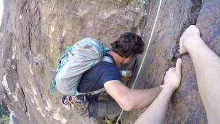 Passed by Free Solo Climber - Dark Shadows, Red Rocks, Neveda