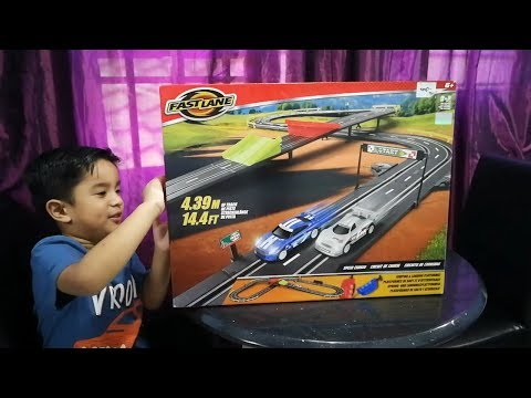 Toys R Us Fast Lane remote control slot racing car 🚔 FAST LANE Speed chaser road racing car set 🏆