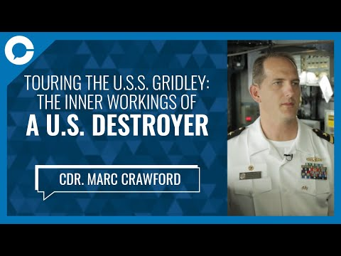 U.S. Navy Commander Marc Crawford:  Tour The US Destroyer USS Gridley