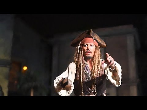 Johnny Depp Brings Disneyland Myth to Life! Shows Up on 'Pirates of the Caribbean' Ride