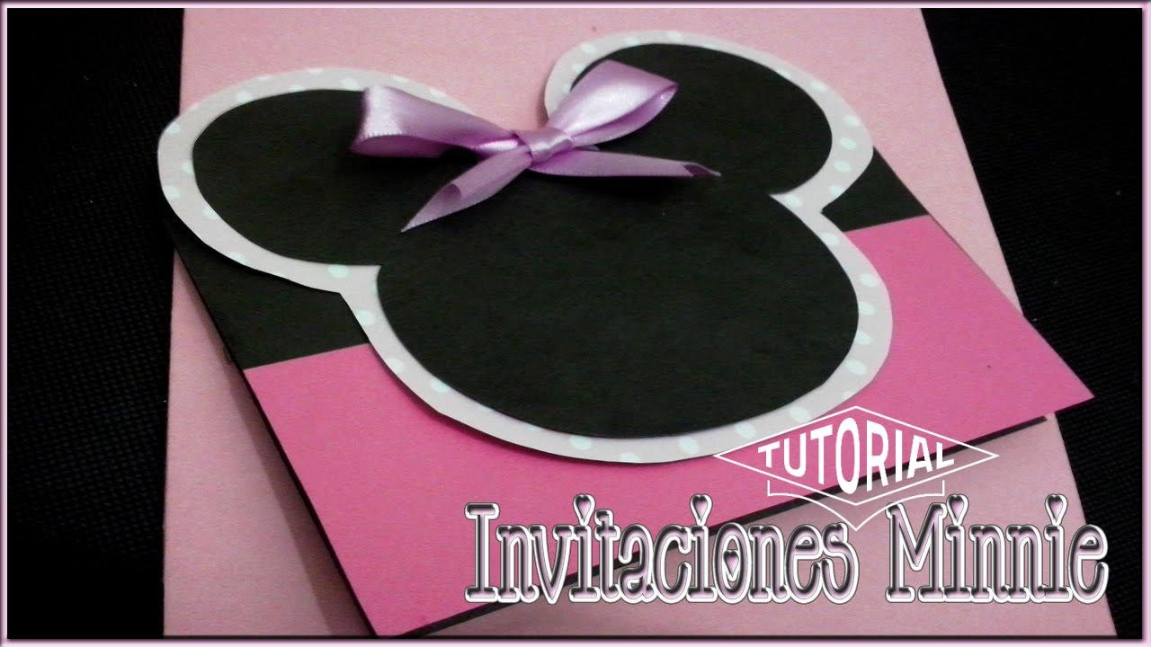 Invitaciones De Minnie Mouse Rosa